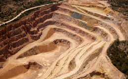 Aerial view of a quarry in Valencia Spain Stock Images
