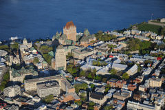 Aerial view of Quebec City Stock Images
