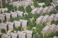 Aerial view of Queens apartment Stock Image