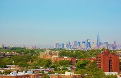 Aerial view queens manhattan new york panorama Stock Image
