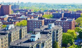 Aerial view queens   new york panorama Royalty Free Stock Photography