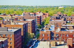 Aerial view queens   new york panorama Royalty Free Stock Image