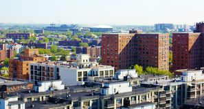 Aerial view queens   new york panorama. One of the largest borough of New York city is Queens , which located in northeast part of  New York , aerial view Royalty Free Stock Photos