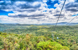 Aerial view of Queensland Australian Coast Stock Photo