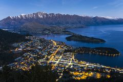 Aerial view of Queenstown Royalty Free Stock Photos