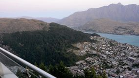 Aerial view of Queenstown New Zealand Stock Photography