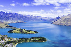 Aerial View of Queenstown in New Zealand, South Island Stock Image