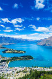 Aerial view of Queenstown in South Island, New Zealand Stock Images
