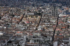 Aerial view of Quito Royalty Free Stock Images
