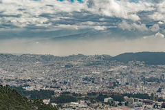 Aerial View of Quito from Cableway Stock Photos