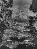 Aerial View of Quito from Cableway Royalty Free Stock Photos
