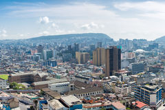 Aerial view of Quito downtown Royalty Free Stock Photography