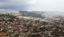 Aerial View - Quito Ecuador Royalty Free Stock Photo