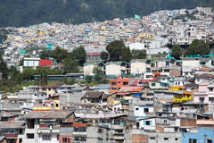 Aerial view of Quito and the residential areas Stock Image