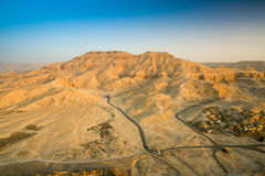 Aerial View of R Valley of the Kings on the West Bank of the Nil Royalty Free Stock Photo