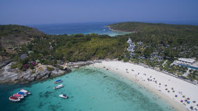 Aerial view of racha island harbor andaman sea phuket southern o Royalty Free Stock Images