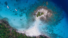 Aerial view of racha noi island, Tropical beach in Phuket South. Of Thailand Royalty Free Stock Photo