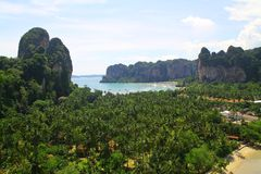 Aerial view of Railay Bay - Krabi - Thailand Stock Image