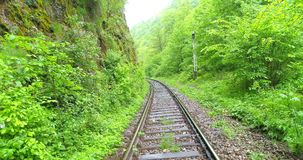 Aerial View of Railroad. Aerial view of a railroad, summertime stock video