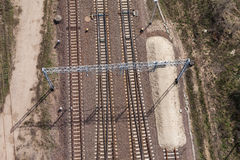 Aerial view of railway tracks Stock Image