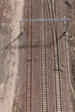 Aerial view of railway tracks Stock Photography