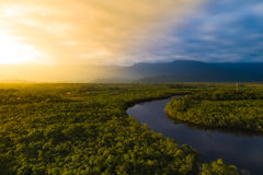 Aerial View of a Rainforest in Brazil.  Stock Image
