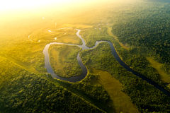 Aerial View of a Rainforest in Brazil.  Royalty Free Stock Images