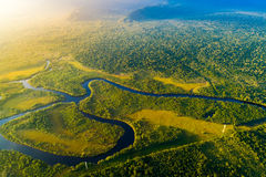 Aerial View of a Rainforest in Brazil Stock Images