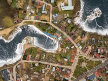 Aerial view of Rajgrod. Aerial winter view of Rajgrod, Poland Royalty Free Stock Photography
