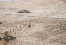 Aerial view of the Ramasseum in Luxor Stock Photos