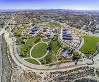 Aerial view of the Rancho Cucamonga Central Park. In the morning Royalty Free Stock Images