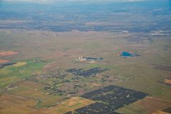Aerial view of the Rancho Seco Nuclear Generating Station. Sacramento County, California Stock Image