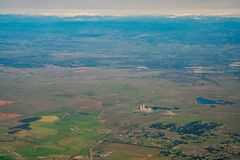 Aerial view of the Rancho Seco Nuclear Generating Station. Sacramento County, California Stock Photos