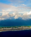 Aerial view of Rangiroa Stock Photography