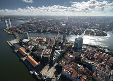 Aerial view of Recife, state of Pernambuco, Brazil Royalty Free Stock Images
