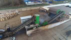 Mechanical conveyor belt stock video footage