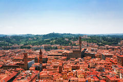 Aerial view of red roofs in Florence Royalty Free Stock Photos