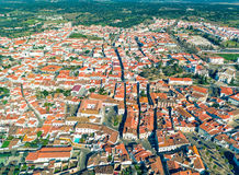 Aerial View Red Tiles Roofs Royalty Free Stock Images