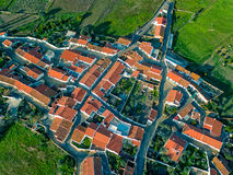 Aerial View Red Tiles Roofs Typical Village Royalty Free Stock Photo