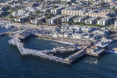 Aerial View of the Redondo Beach Pier near Los Angeles Californi Royalty Free Stock Photo
