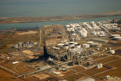 Aerial view of Refinery Stock Photo