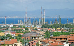 Aerial view of refinery factory Stock Photo