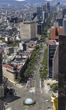 Aerial view of reforma street in mexico city. Beginning of the most important part of reforma avenue Stock Image