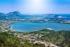 Aerial View of Regiao Oceanica in Niteroi, Rio de Janeiro, Brazi Royalty Free Stock Image