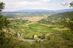 Aerial view of the region of Provence in France Royalty Free Stock Images