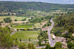 Aerial view of the region of Provence in France Stock Image