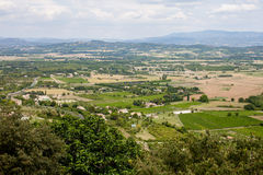 Aerial view of the region of Provence in France Royalty Free Stock Photo
