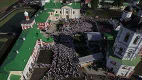Aerial view of religious holiday stock video footage