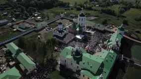 Aerial view of religious holiday stock footage
