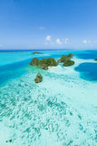 Aerial view of remote tropical islands of the Pacific, Palau, Micronesia Royalty Free Stock Photography